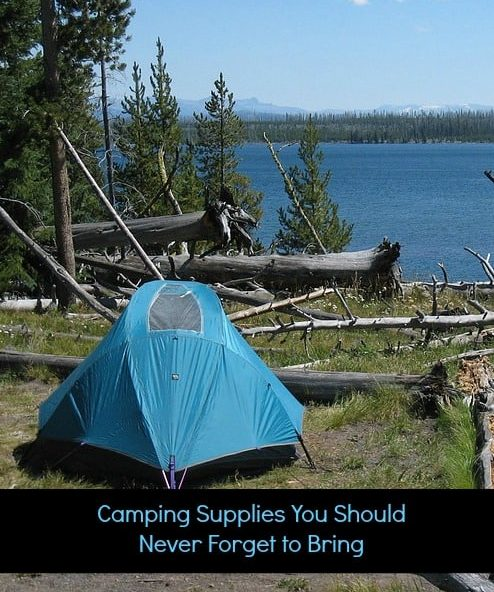 Camping Supplies You Should Never Forget to Bring article cover image of tents on a lake