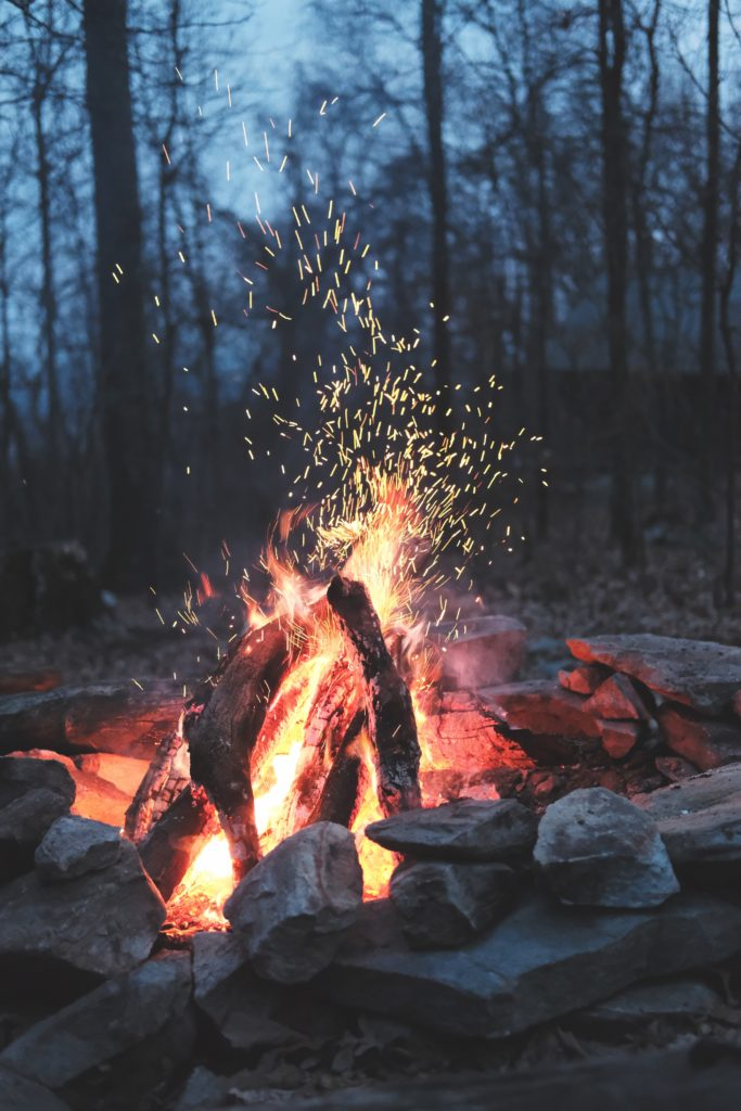 Camping And Camp Fire Building Techniques