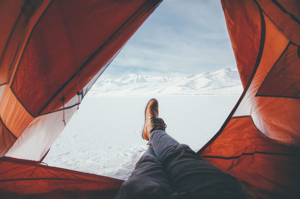 camping when cold