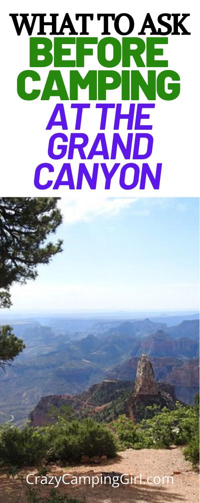 Grand Canyon Camping Trip Tips