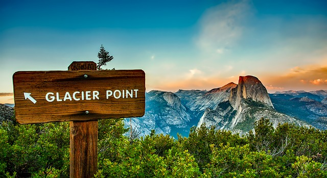 Tips for Camping At Yosemite Glacier Point Sign
