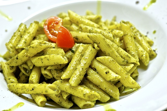 Vegetarian Camping Food pesto pasta
