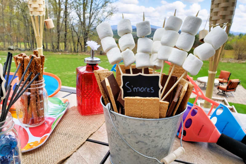 Indoor Camping Ideas for Entertaining the Kids s'mores bar