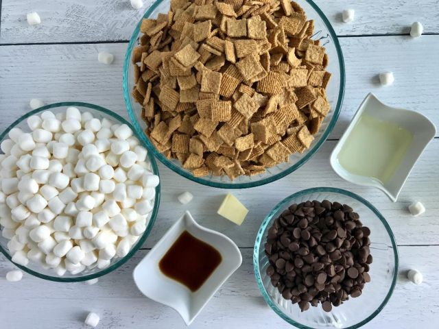 S'mores Bars Recipe ingredients picture