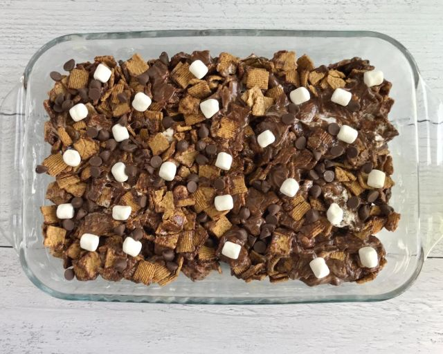 S'mores Bars Recipe ready to cut and serve