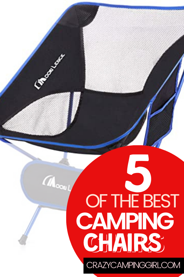 5 Best Chairs for Camping Adventures article cover image with a camping chair