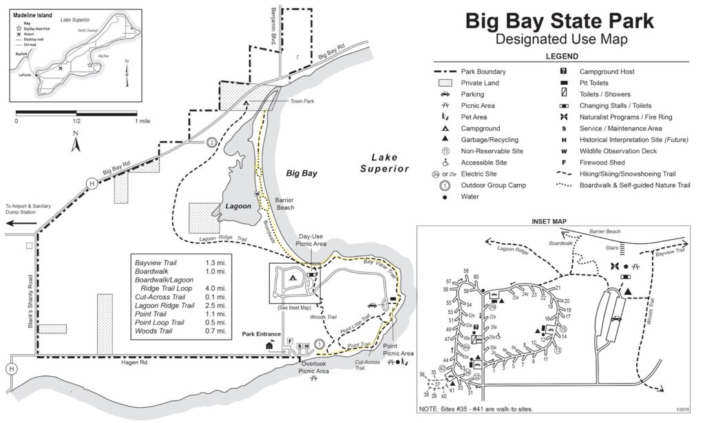 Hiking at Big Bay State Park